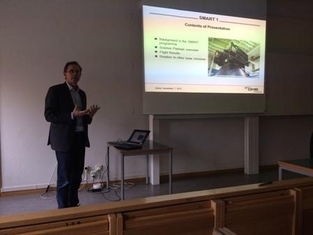 Lyckat föredrag om OHB:s elektriska satelliter.